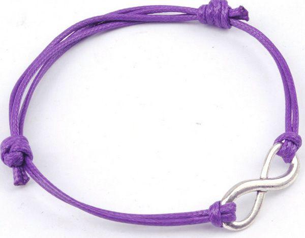 Neue Ankunfts-umsponnene Seil-Unbegrenztheits-Armband-Legierung Identifikation 8 Farben