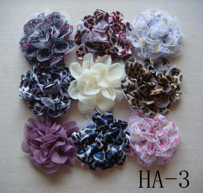 Wholesale hot sell Pure silk Headdress flower hair clip Hair Accessories Mixed colors HA13