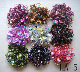 Purple Clips Canada - Wholesale hot sell Pure silk Headdress flower hair clip Hair Accessories Free shipping 20 pcs lot Mixed colors HA15