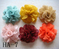 Wholesale China Headdresses - Wholesale hot sell Pure silk Headdress flower hair clip Hair Accessories Free shipping 20 pcs lot Mixed colors HA17