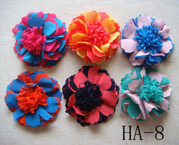 Purple Clips Canada - Wholesale hot sell Pure silk Headdress flower hair clip Hair Accessories Free shipping 20 pcs lot Mixed colors HA18