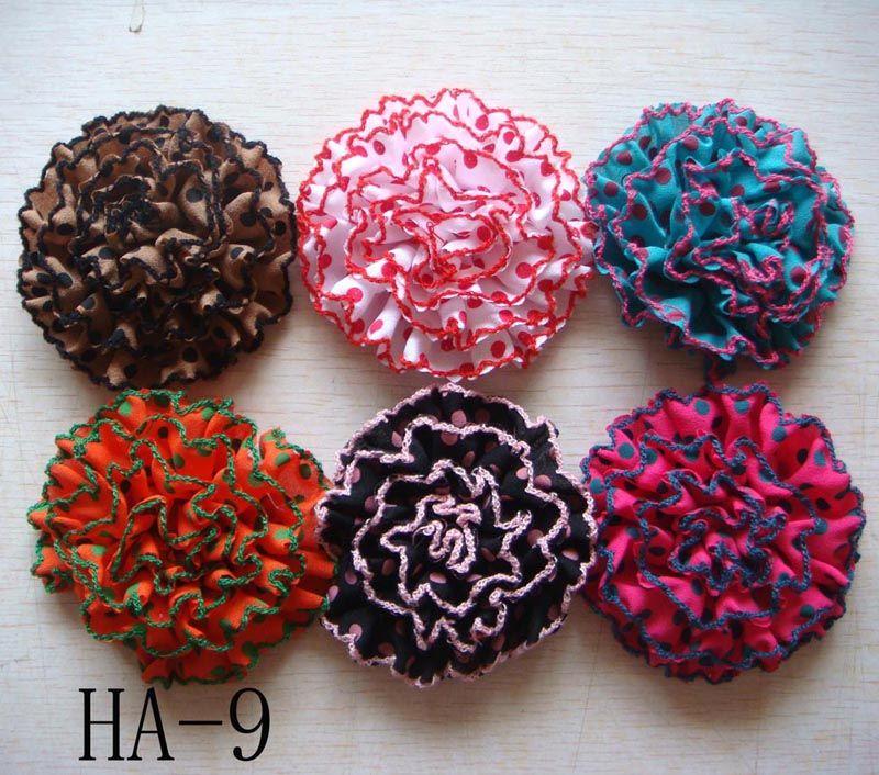 Wholesale hot sell Pure silk Headdress flower hair clip Hair Accessories Mixed colors HA19