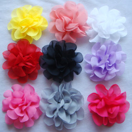 Purple Clips Canada - Wholesale hot sell Pure silk Headdress flower hair clip Hair Accessories Free shipping 20 pcs lot Mixed colors HA12