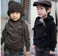 Wholesale Wholesale Personalized Sweater - boy's girl's hoodies suit outfit children's clothes zipper personalized sweater