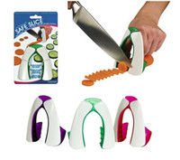 Wholesale Safe Slice - Safe Slice Kitchencraft non slip soft grip Finger Guard Protector Cut Vegetable protector 120pcs lot Free shipping