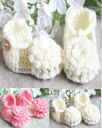 Wholesale Shop Wholesale Spring - 35%off FREE SHOPPING!0-12MONTH! Wool large flowers sandals! Newborn Crochet Sandals cheap china kid shoes shoes online 6pairs 12pcs