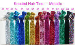 Wholesale Elastic Hair Ties Bracelet - Wholesale - girls' Shimmery Hair Ties bracelet Ribbon hair tie elastic wristbands ponytail holder 1000pcsTR-35
