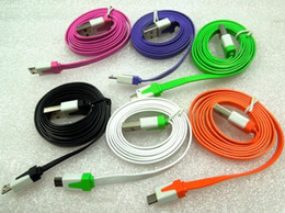Wholesale Sumsang S3 - Colorful Noodle Style micro USB Cable data line For HTC One X S V Sumsang i9300 i9220 GALAXY Note S3