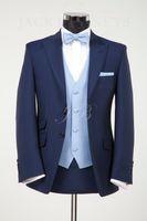 Wholesale Blue Linen Pants - Custom-made 2014 New Groom Tuxedos Best man Wedding Groomsman Suit Groomsman Bridegroom Suits (Jacket+Pants+Tie+Vest) 022