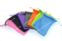 Wholesale Mesh Bag Electronic Cigarette - Colorful size 8cm*14cm Soft Mesh Pouch Case Bag for Electronic Cigarette can hold Tank Atomizer Colorful EGO-T Battery USB Adapter Cable