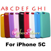 Wholesale Iphone 5c Case Jelly - For iphone 5C Hot Selling Smooth Glossy Candy Color Jelly Soft Thin TPU Gel Case Cover for iPhone 5C