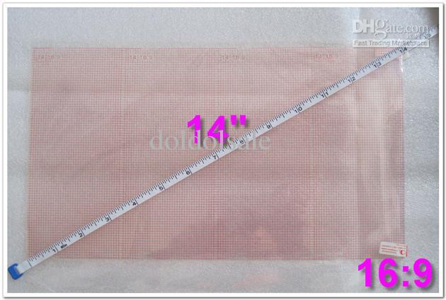 Kristall LCD Screen Protector mit Raster 14 Zoll Größe 310x175mm Kein Kleinpaket für Laptops Notebook Schutzfolie Großhandel