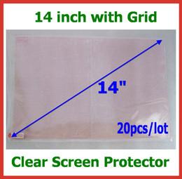 20pcs cristal protecteur d'écran LCD avec grille 14 pouces taille 310x175mm Aucun paquet de vente au détail pour ordinateurs portables Notebook Film de protection en gros