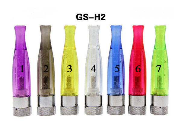 New GS-H2 Clearomizer atomizer E-Cigarette GS H2 Atomizer Replace CE4 Cartomizer all For eGo 510 batter series 7 colors DHL Free