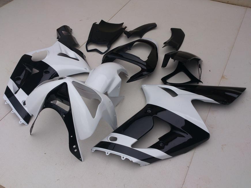 7 regalos !!! Kits de carenado para KAWASAKI Ninja ZX6R 03 04 ZX 6R 2003 2004 ZX-6R 636 blanco brillante negro Carenados de cuerpo kit SD81
