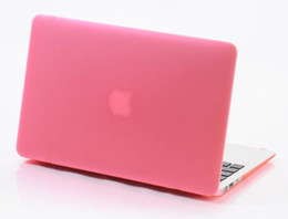 Wholesale Rubberized Laptop Cases - Hard Matte Plastic Protective Case Cover for Macbook Air Pro Retina 11 12 13 15 inch Laptop Crystal Frosted Rubberized Cases Shell Durable
