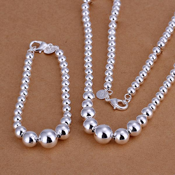 top popular Wholesale - lowest price Christmas gift 925 Sterling Silver Fashion Necklace+Earrings set yS080 2021