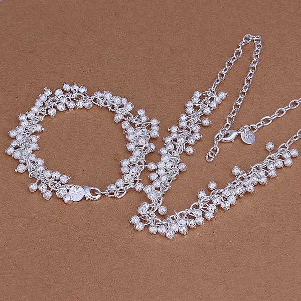 Al por mayor - precio más bajo Regalo de Navidad 925 Sterling Silver Fashion Necklace + Earrings set yS104y
