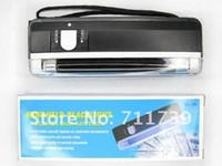 Wholesale Handheld Money Detector - Quality goods 1pc handheld money detector back light UV lamp forge money test currency bank note detector Handheld +flashlight