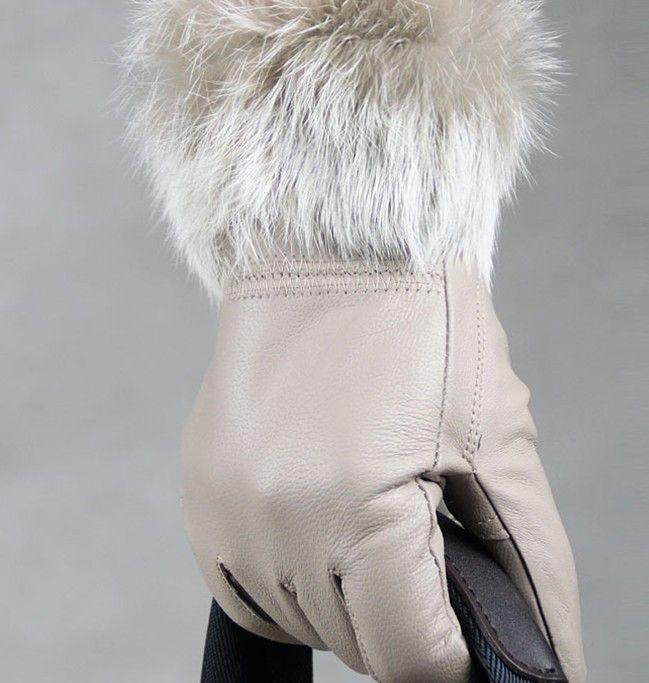 guantes de piel de piel con flecos 5 Guantes de piel fingure GUANTES DE PIEL 12 pares / lote