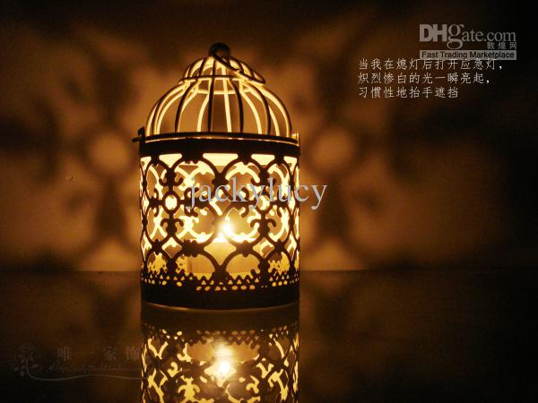 2015 New Arrival Romantic Wedding Favours Iron Lantern Candle Holder for Wedding Table Decorations Supplies