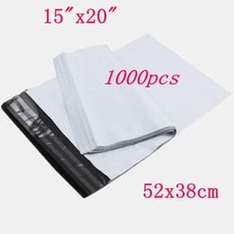 "Wholesale White Poly Mailers Envelopes Bags - 100pcs Lot 15""x20""White Dark Grey Poly Mailer Plastic Envelope Mailing Toughness bag ,Free Shipping DHL  EMS"