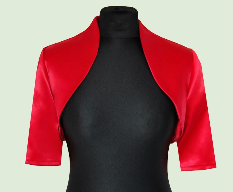 Por encargo chaquetas del vestido de boda con medias mangas cualquier color y tamaño Satén nupcial Shrugs / Jacket / Bolero