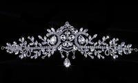 Wholesale Rhinestone Forehead Band - Bridal white rhinestone crystal forehead band Hair tiara