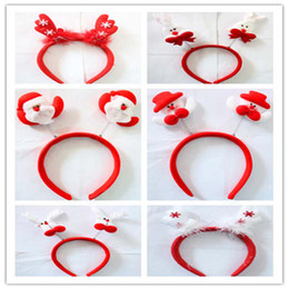 Wholesale Headband Stands - Ttop2012 Free Shipping Via DHL Christmas theme headband Santa reindeer Snowman Christmas Gift tree 100pce lot