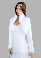 Wholesale bridal fur wrap - Custom Made new style long sleeve wedding jacket bridal wraps Jackets fur boleros free shipping dh5143