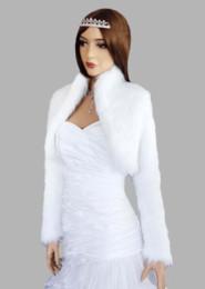 Wholesale Long Lace Bridal Jacket - Custom Made new style long sleeve wedding jacket bridal wraps Jackets fur boleros free shipping dh5143