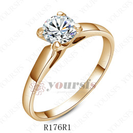 Wholesale Ladies Gold Diamond Ring - Yoursfs New Mix Styles Gorgeous Diamond 18 K White Gold Plated Use High Quality Austrian Crystal Wedding Rings For Lady Women Gift MX003