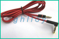 Wholesale 3 mm L Plug Red Wire Replacement Aux Cable High Quality cables for Headphone up