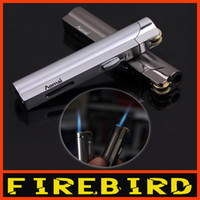 Wholesale butane windproof lighters - Free Shipping AOMAI Classic Cigarette Butane Jet Flame Metal Windproof Gas Lighter