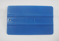 Wholesale Vinyl Air Free China - Plastic Car vinyl Film sticker wrapping tools Blue color Scraper squeegee size 13.00cm*8.0cm China Post Air Mail Free shipping