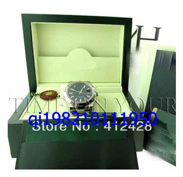 frei shippng Marke Top-Qualität Männer Big II EDELSTAHL 18K WHITE GOLD FLUTED schwarz DIAL 41MM 116334 Box Uhr Herrenuhren