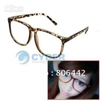Wholesale Nerd Dress - Wholesale - Leopard Fashion Cool Clear Lens Nerd Eyewear Frame Glasses For Fancy Dress Free Shipping