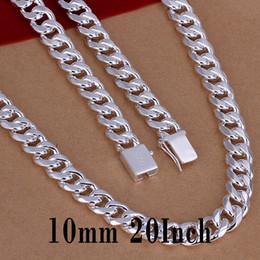 """Moda Hombre 925 plata esterlina 4MM Solid Hombres Bordillo Cadena Collar 20/"""" Pulgadas Nuevo"""