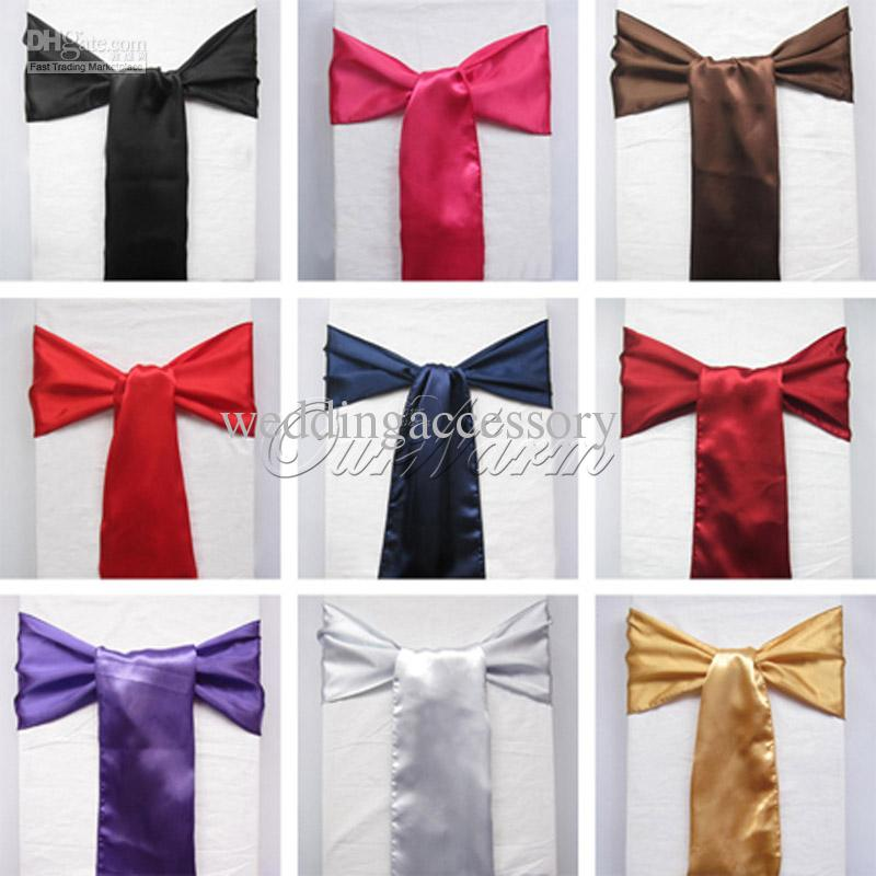 Satin Chair Sashes New Christmas Craft Decoration Banquet - Wedding chair ties