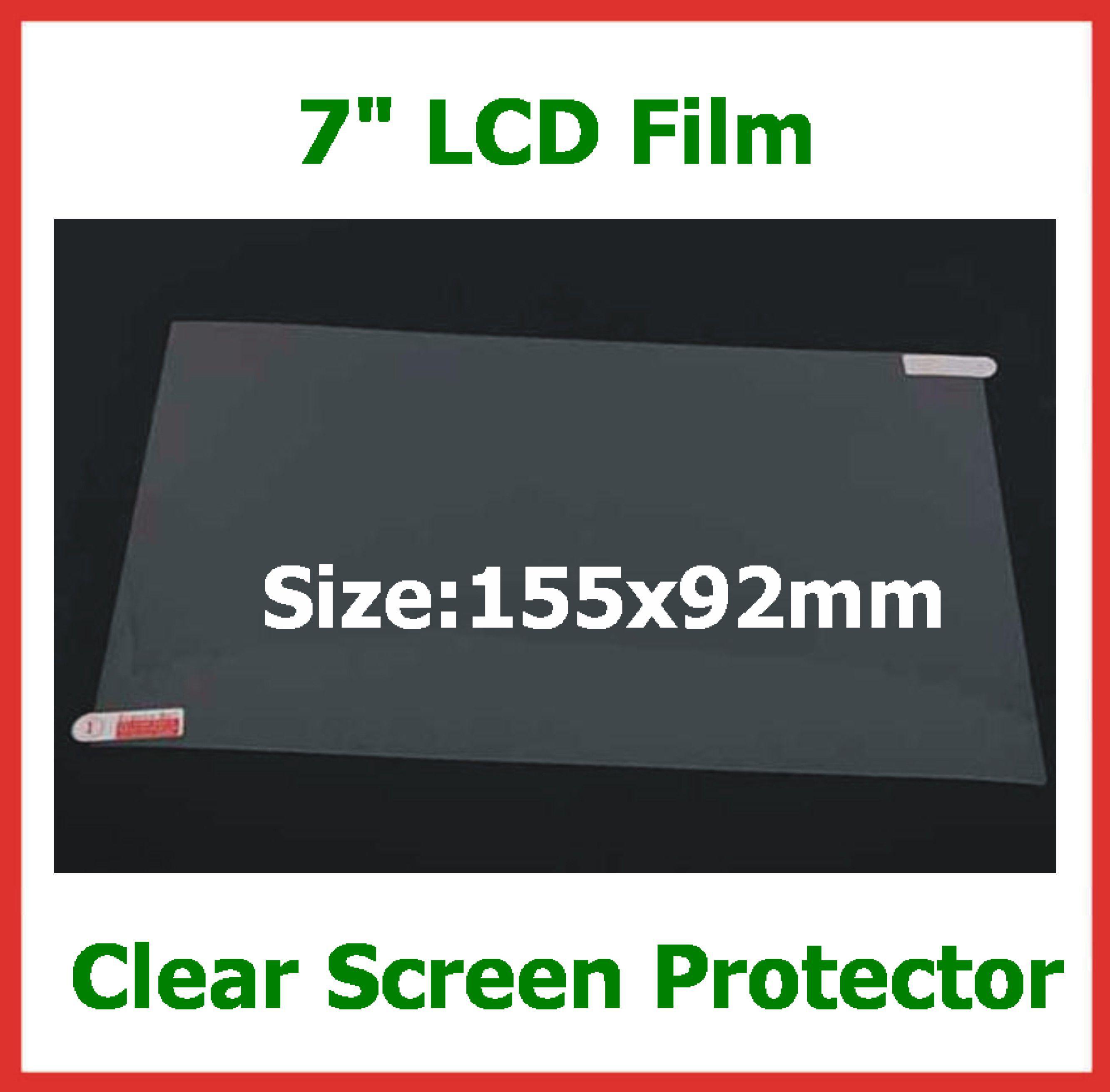 100 pcs Universal 7 polegada LCD Screen Guard Protector Film NÃO Full-Screen Tamanho 155x92mm para GPS Tablet PC câmera