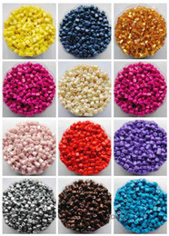Wholesale Czech Beads 4mm - JLB 50g 3*3*4mm 10 colors choice Fashion Square shape DIY Loose Czech Spacer glass Seed beads garment accessories & jewelry findings BE226