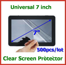 Wholesale gps lcd screen - 500pcs Universal 7 inch LCD Screen Protector NOT Full-Screen Size 155x92mm No Retail Package for GPS Tablet PC Protective Film