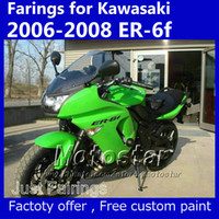 7 regali carenatura impostati per Kawasaki Ninja 650R 2006 2007 2008 ER-6f carenature verdi kit OEM er6f ER 6F 650R Ol88