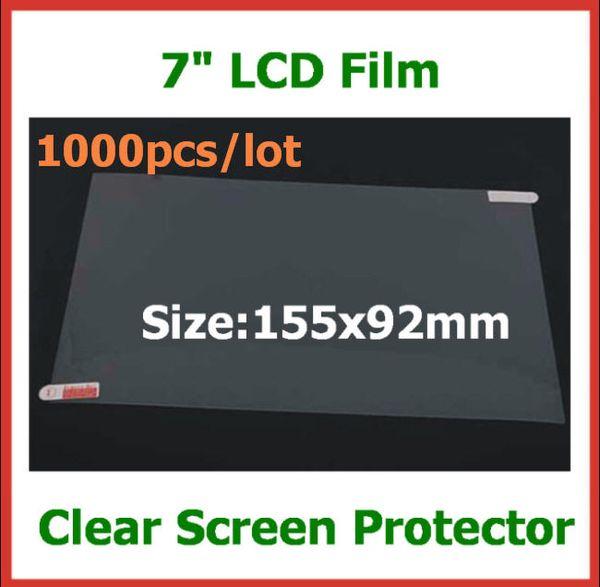 1000pcs universel 7 pouces tablette écran protecteur écran lcd écran pour tablet pc MID GPS MP4 taille 155x92mm film de protection