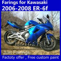 Wholesale Kawasaki Stock Fairings - 7 gifts fairing set for 2006 2007 2008 Kawasaki Ninja 650r ER-6f stock blue fairings kits er6f ER 6F 650R OP33