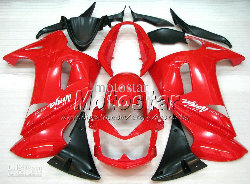 Kawasaki Ninja 650r için OEM şeker kırmızı kaporta seti ER-6f 2006 2007 2008 fairings kitleri 06 07 08 er6f ER 6F 650R