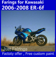 Wholesale Kawasaki Ninja Blue Paint - 7 gifts Blue fairing set for Kawasaki Ninja 650r ER-6f 2006 2007 2008 fairings kits 06 07 08 er6f ER 6F 650R accept custom paint