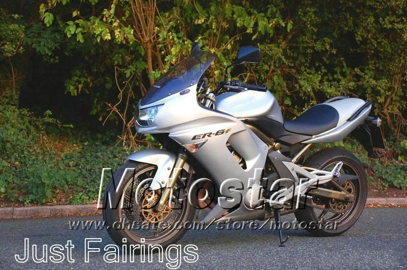 Same as you seeing! sivler fairings set for Kawasaki Ninja 650r ER-6f 2006 2007 2008 fairing body kits 06 07 08 er6f ER 6F 650R