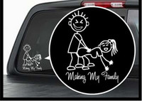 (100 parti / lotto) all'ingrosso Rendere la mia famiglia decalcomania del vinile / Window Sticker Stick Figure sexy Bad Car Decal