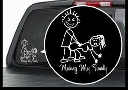 stickers famille vinyle pour voitures Promotion (100 pièces / lot) gros faisant ma famille vinyle autocollant / sticker fenêtre stick figure sexy bad autocollant de voiture